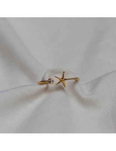 Anillo estrella circonita...