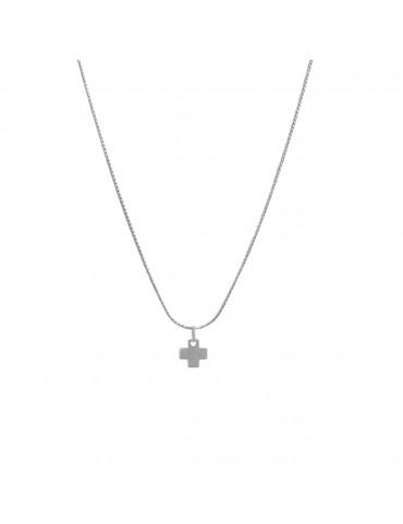 Colgante mini cruz plata...