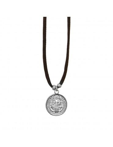 Colgante medalla redonda Jesús