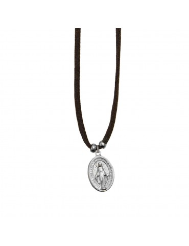 Colgante medalla Virgen ovalada