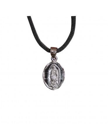 Colgante medalla Virgen plata de ley